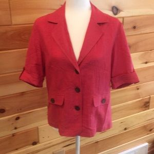 Pink jacket linen/rayon machine wash